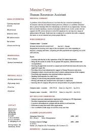 Cover Page For Job Resume by Human Resources Assistant Resume Hr Example Sample Employment