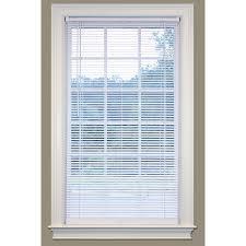 shop safetrac 1 in cordless white vinyl room darkening mini blinds