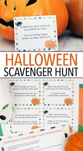 Halloween Preschool Printables Fun Halloween Scavenger Hunt With Printable Clues
