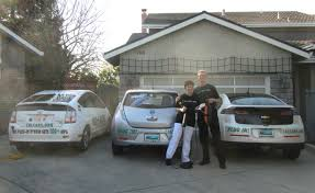 nissan leaf you plus lucky family first to get a chevy volt and a nissan leaf