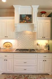 Off White Kitchen Cabinets With Black Countertops Subway Or Morrocan Tile Backsplash With White Cabinets Tile