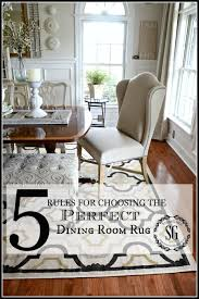 Rug Sizes For Living Room 5 Rules For Choosing The Perfect Dining Room Rug Stonegable