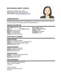Resume Writing For Teaching Job sample resume for teachers without experience english teacher