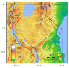 Physical Map Of Africa by Physical Map Of Tanzania Tanzania Physical Map Vidiani Com
