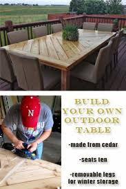 Building Outdoor Wood Furniture by Best 25 Outdoor Tables Ideas On Pinterest Farm Style Dining