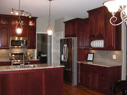 Painting Thermofoil Kitchen Cabinets Brown Granite Countertop On Cherry Oak Wood Kitchen Cabinet And