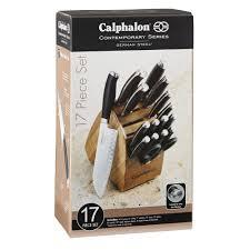 Kitchen Knives To Go Calphalon Contemporary Cutlery 17 Pc Set Calphalonusastore