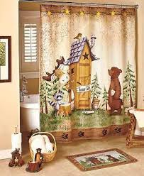 Moose Bathroom Accessories by 7 Pc Nature Calls Bathroom Set Collection Bear Moose Outhouse
