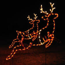 outdoor reindeer lights large collection of outdoor christmas light displays