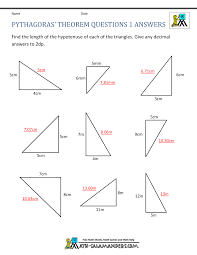 Addition Worksheets Pdf Pythagoras Theorem Questions
