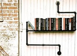 the pipe bookshelf is a really fun idea and would have been great