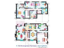 742 Evergreen Terrace Floor Plan Tv Sitcom Homes Floor Plans Home Plan