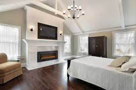 Floor And Home Decor Using Modern Indoor Electric Fireplaces Wearefound Home Design