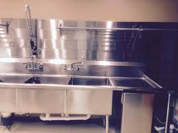 commercial kitchen design stainless steel tile backsplash in