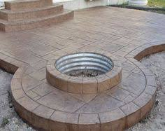 outdoor covered patio covered stamped concrete patio with