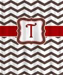 Personalized Shower Curtain Brown with Red or Red by redbeauty