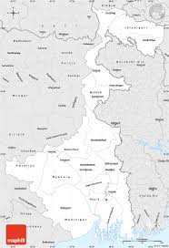 Lat Long Map Silver Style Simple Map Of West Bengal