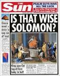 950 BC: The wise King Solomon | The Sun |Hold Ye Front Page