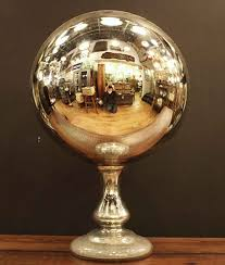 Gazing Ball Fountain Large Antique Mercury Gazing Ball Olde Good Things