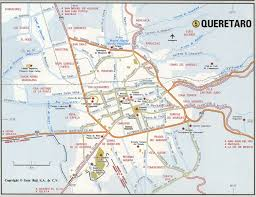 San Luis Potosi Mexico Map by Queretaro City Roads Mapfree Maps Of Us
