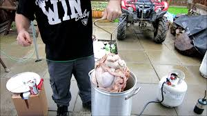 thanksgiving turkey wrapped in bacon how to deep fry bacon wrapped turkey youtube