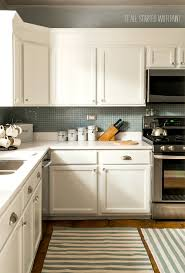 How To Remodel Old Kitchen Cabinets Builder Grade Kitchen Makeover With White Paint