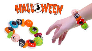 halloween crafts with candy making a spooky gummy candy halloween bracelet how to make diy