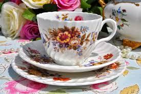 vintage bone china tea cups and antique teacup trios