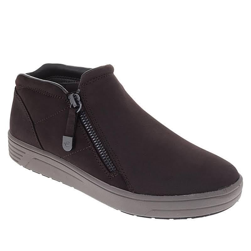 Easy Spirit Novia Trainers Nubuck Sneaker Boots Brown 7.5 Wide (C,D,W)