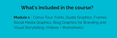 Whats Included Canva Course For Business Page Tigerlily Virtual Assistance