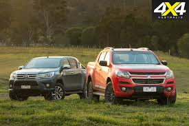 holden holden colorado challenges the toyota hilux 4x4 australia