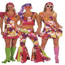 Flower Power Halloween Costume 60s 70s 80s Athlone Jokeshop Costume Hire 2