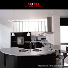 compare prices on kitchen cabinets islands online shopping buy high gloss black integrated kitchen cabinets with elegant curved island and countertop
