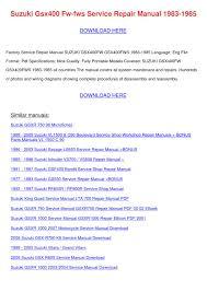 suzuki gsx400 fw fws service repair manual 19 by laceyknott issuu