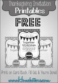 Printable Invitation Card Stock Black U0026 White U201cformal U201d Thanksgiving Invitations Free Printable