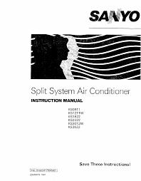 sanyo air conditioners ks1211w pdf user u0027s manual free download