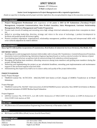Director Of Operations Resume Sample by Project Manager Resume Samples Sample Resume For It Project