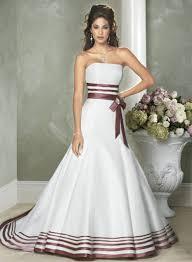 White strapless wedding