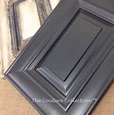 this cabinet door is painted with shale stone paint couture then