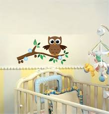 Baby Home Decor Amazon Com Cute Baby Owl Wall Stickers With Leaves Flower And