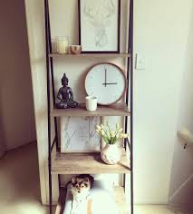 love these kmart industrial ladder shelves and its also decked