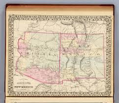 Map Of Arizona by Arizona New Mexico David Rumsey Historical Map Collection