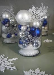 Silver Centerpieces For Table 82 Best Blue And Silver Christmas Images On Pinterest Blue