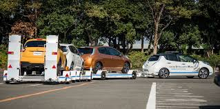 nissan leaf used car nissan leaf used as autonomous tow truck at factory photos 1 of 2