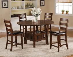 graham counter height table and 4 chairs burnished oak levin