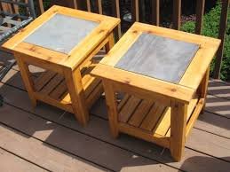 Building Outdoor Wood Furniture by Ceramic Tile Table Tops Projects Kevin Also Made This Pair Of