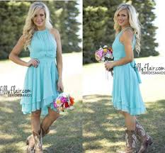 2017 sale cheap country style turquoise bridesmaid dresses