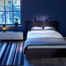 Blue Bedroom Idea With Comfortable Space Design Amaza Design - Blue bedroom designs