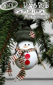 christmas decorations to make at home diy light bulb snowman ornament u2013 top easy christmas party decor