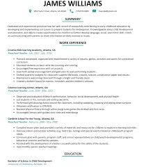 Qualifications Summary Resume Example by Preschool Teacher Resume Sample Resumelift Com